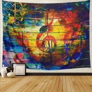 Other - Tapestry Music Note Psychedelic
